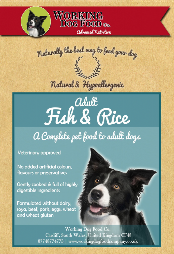 Naturally Preserved & Hypo-allergenic Adult White Fish & Rice Complete Dry Dog Food